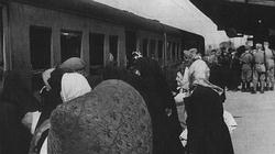 Jews being transported to a concentration camp in 1942.
