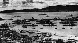 Britain's fleet at anchor in Scapa Flow.