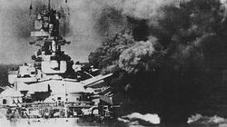 The mighty Italian Battleship Vittorio Veneto fires a salvo from her 15 inch guns in December 1940.