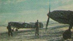 German fighter aircraft sit idle in late 1939, during a period known as the 'Phoney war'.