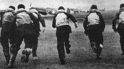 RAF fighter pilots scramble as warning of a German attack comes through.