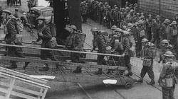 Troops of the BEF embark for France during October 1939.