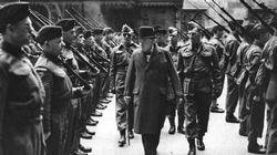 Churchill inspects men of the London Home Guard, well turned out and equipped by 1942.